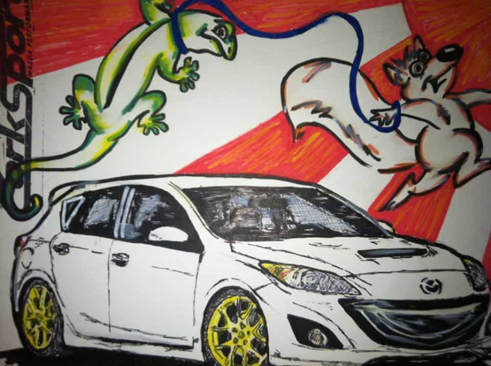 awesome-kim-corksport-drawing-mazdaspeed-3-hand-drawn