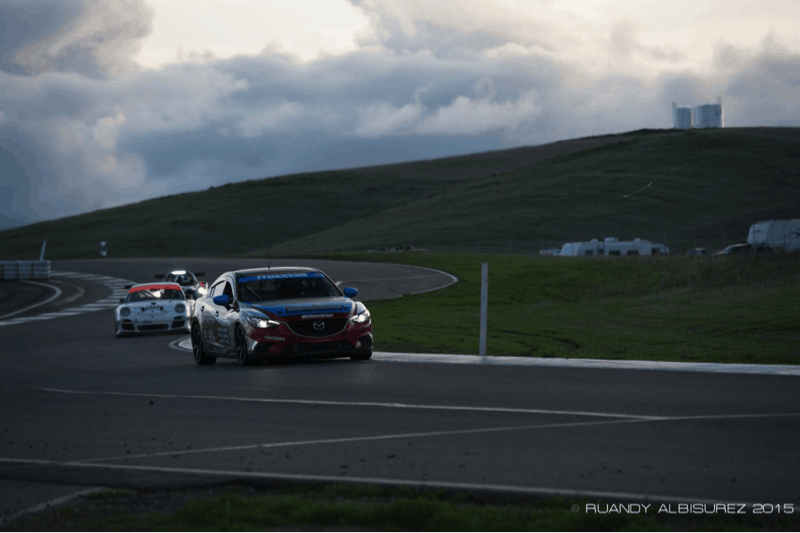 Mazda Sedans drive into the night