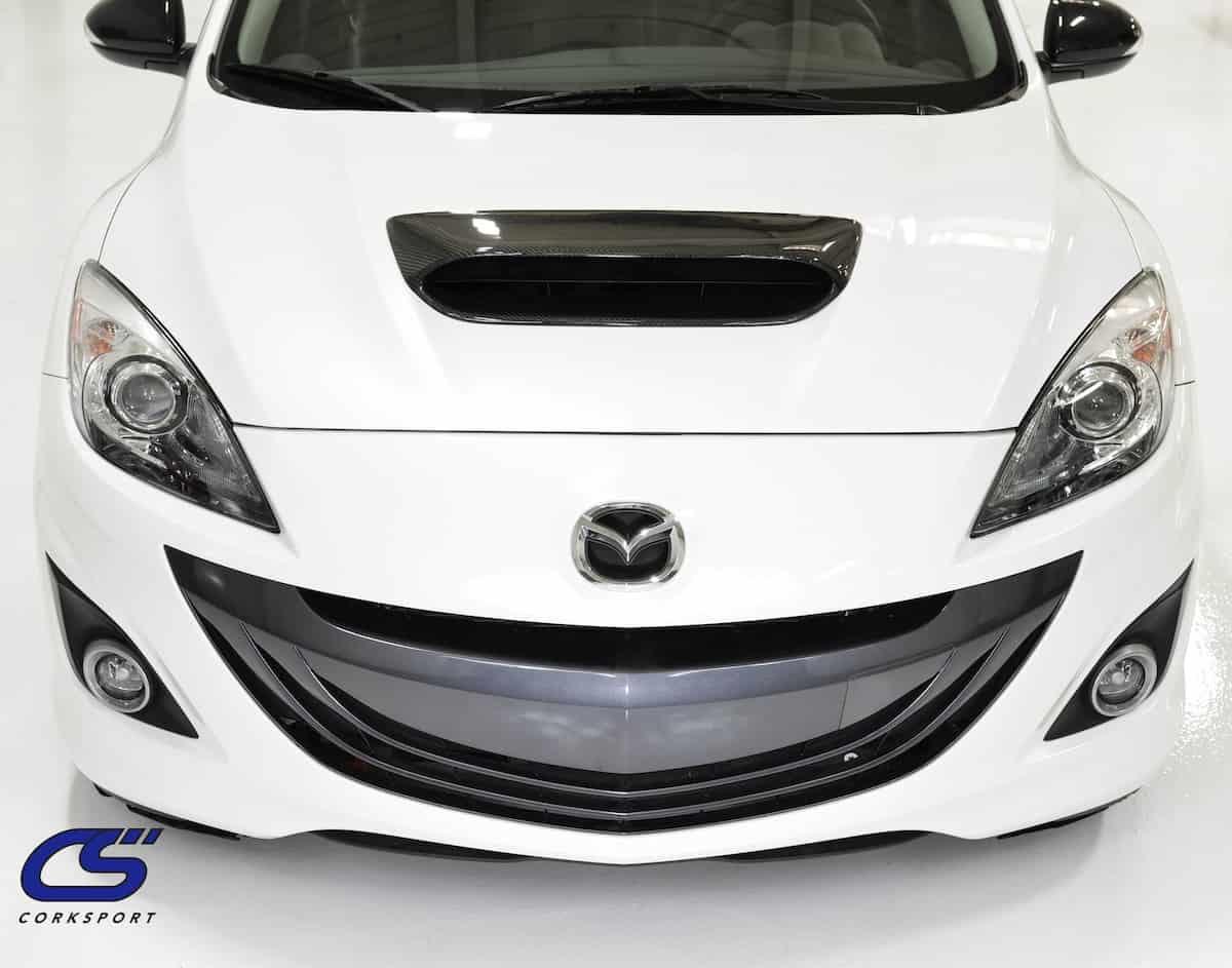 Mazdaspeed 3 Carbon Fiber Hood Scoop