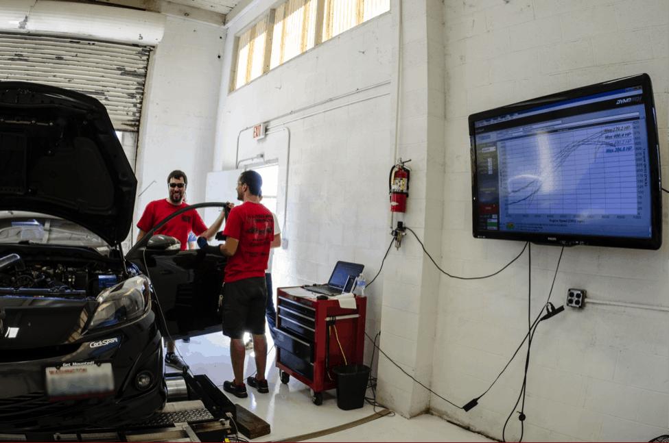 Dyno Testing a Mazda