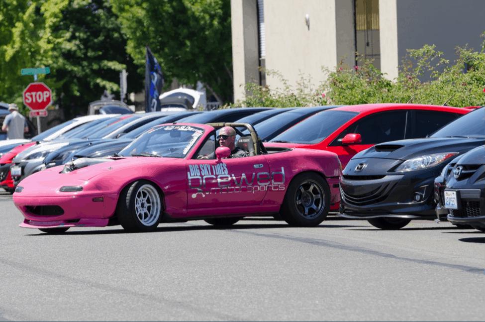 Hot Pink Mazda Miata
