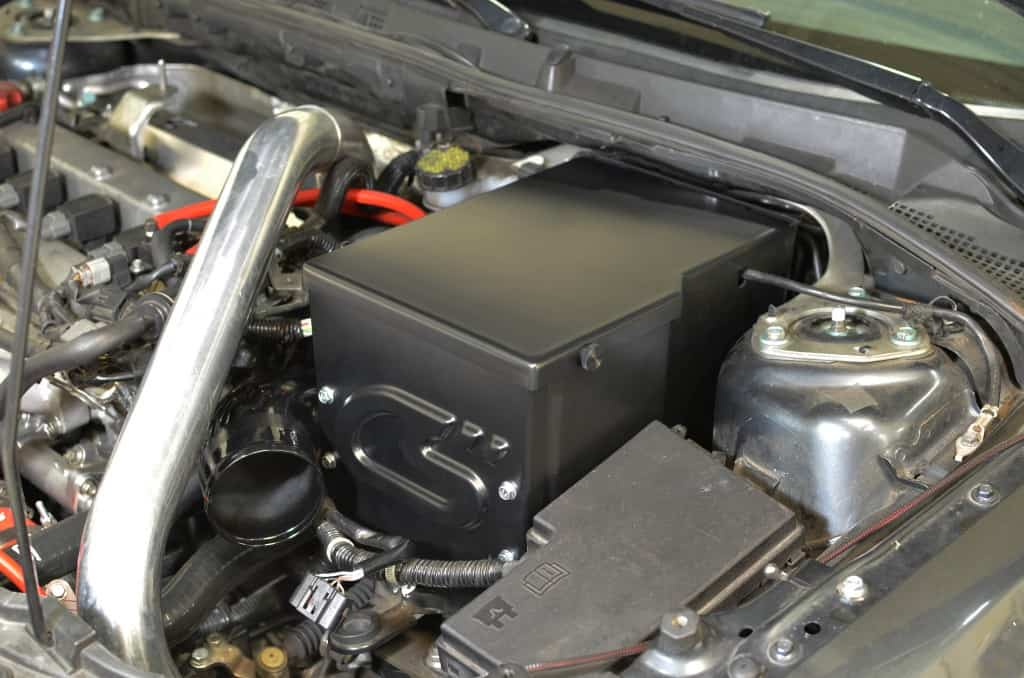 Mazdaspeed 3 CorkSport Battery Box Installed