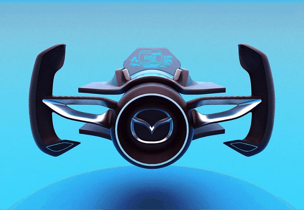 Mazda Shinshi concept steering wheel