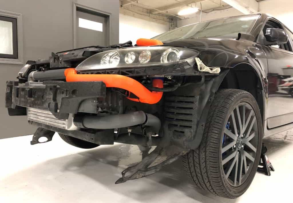 MS6 CorkSport FMIC fitment testing Side