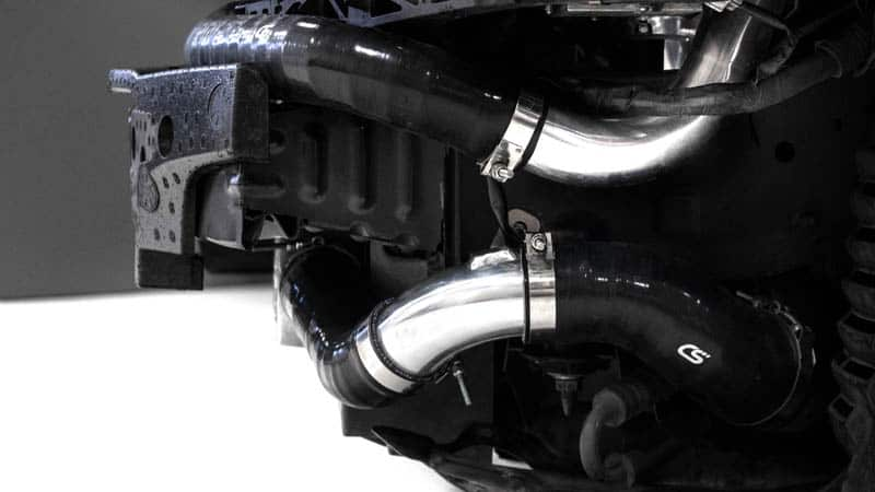 Wire reinforces silicone hoses make the Speed 6 FMIC a quality product