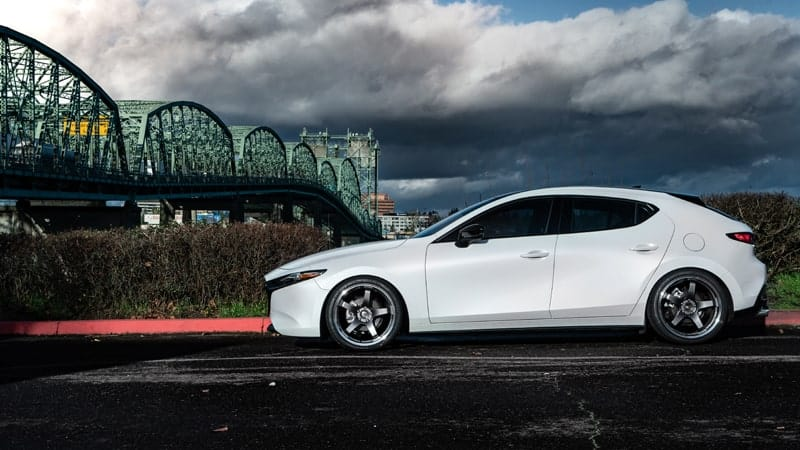 The perfect balance of lowering for the 2020 Mazda 3