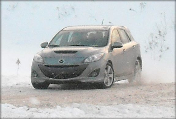 Special guest MazdaSpeed 3 on the track