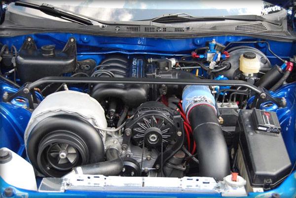 Huge turbo 3-rotor RX-8 engine